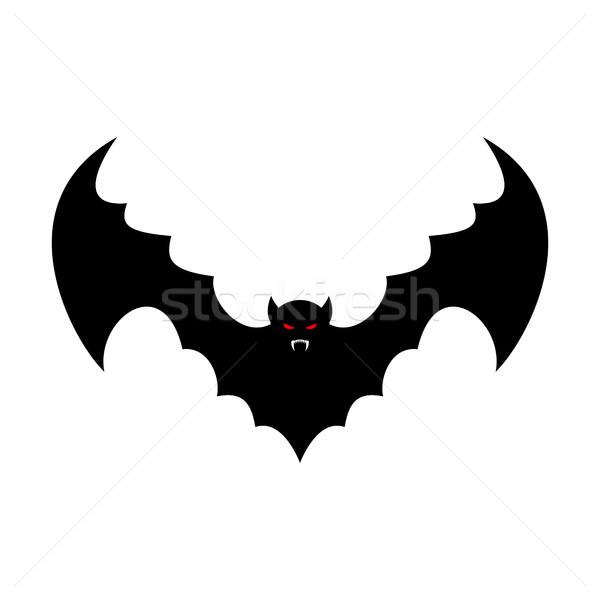 Bat isolated. Leech with wings. Flying vampire Stock photo © popaukropa
