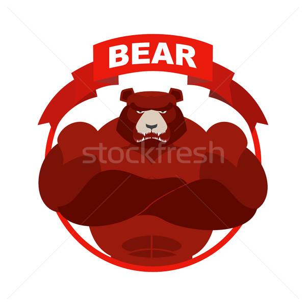 Rood beer beneden pijl uitwisseling handelaar Stockfoto © popaukropa