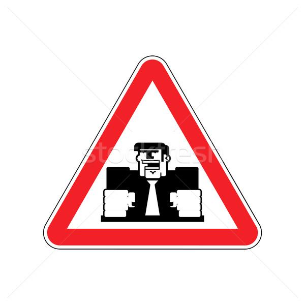 Stock fotó: Figyelem · mérges · főnök · főnök · piros · háromszög
