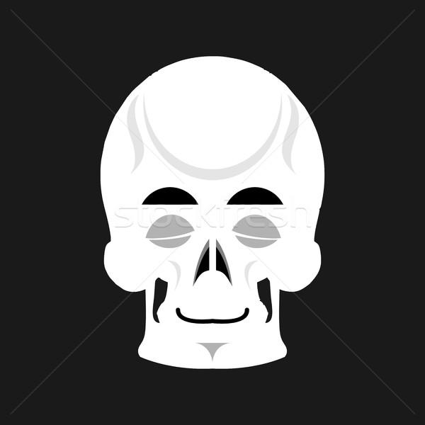 Skull sleeps Emoji. skeleton head asleep emotion isolated Stock photo © popaukropa