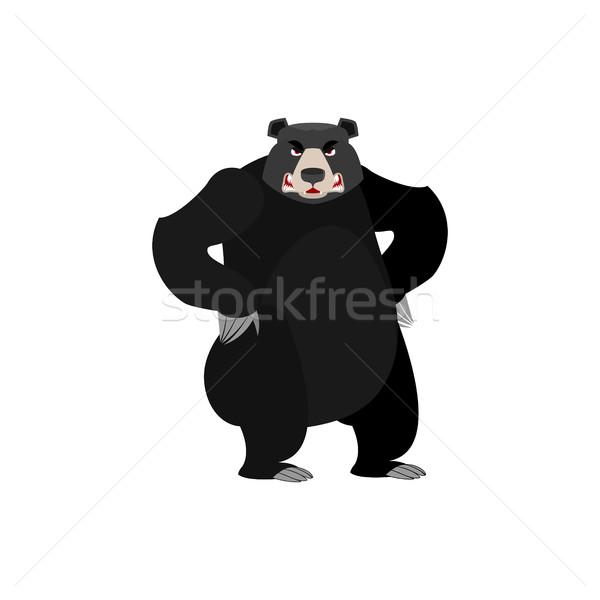 Arrabbiato americano nero orso male emozione Foto d'archivio © popaukropa