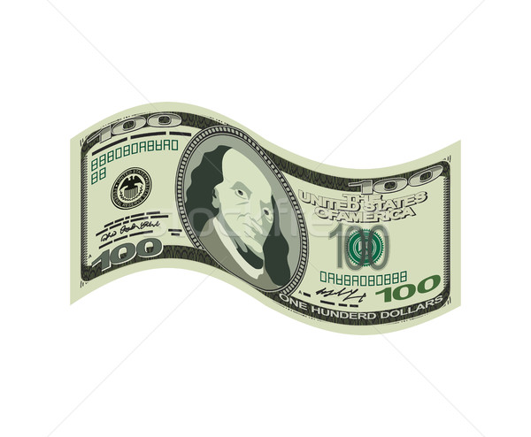 100 dollar isolated. USA money on white background. American cas Stock photo © popaukropa