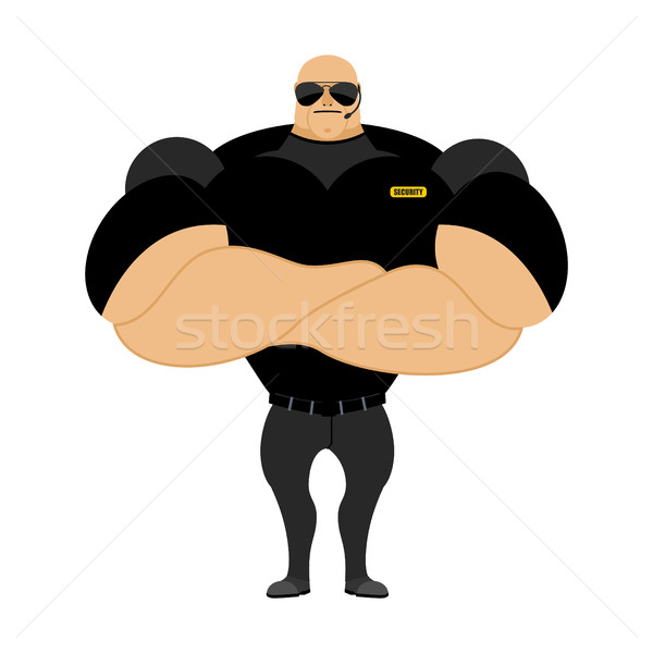 Big and strong security guard. Man with big muscles. Security gu Stock photo © popaukropa