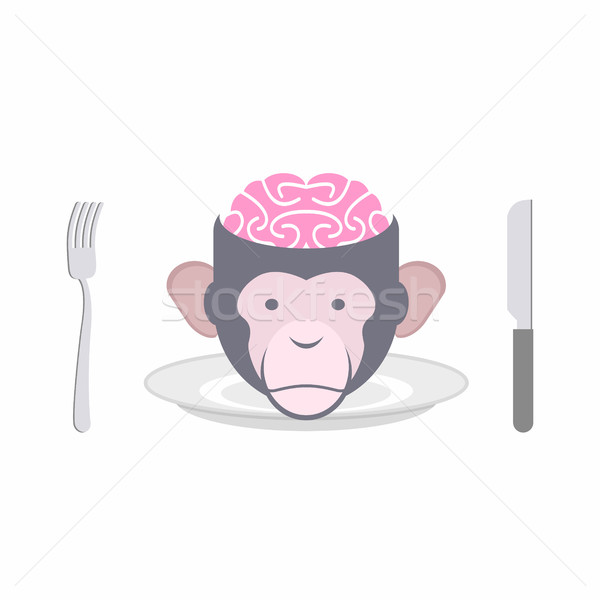 Monkey Brains prohibited dish of Oriental cuisines Chinese, Indo Stock photo © popaukropa