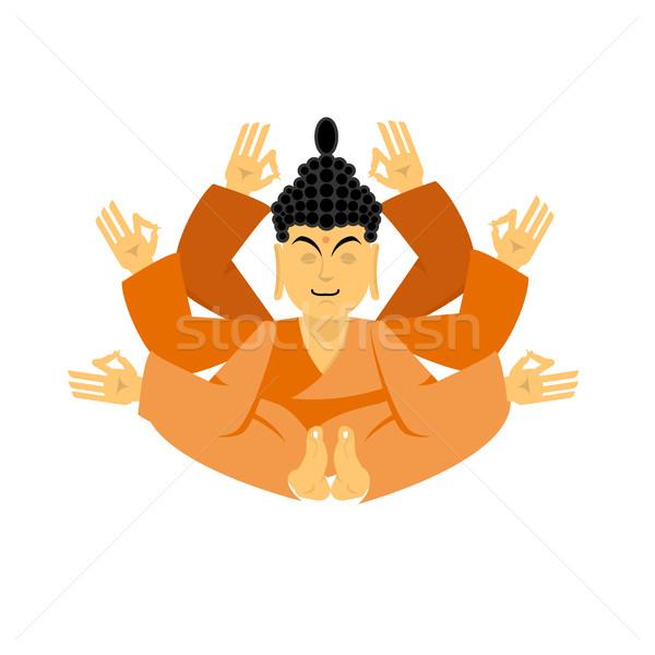 Buddha lotus pose yoga isolated. zen and relaxation. Indian god Stock photo © popaukropa