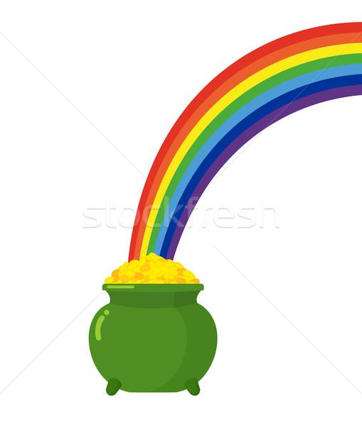Olla oro arco iris día de san patricio dinero Foto stock © popaukropa