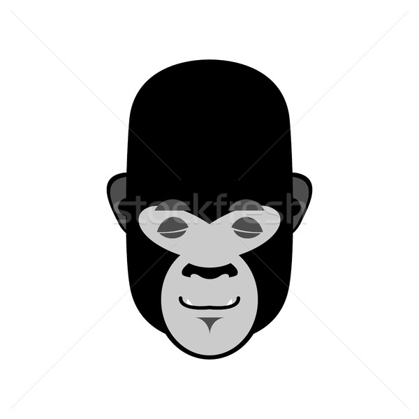 Gorilla Sleeping Emoji. Monkey asleep emotion isolated Stock photo © popaukropa