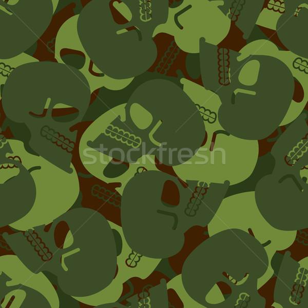 Militar textura crânio exército esqueleto sem costura Foto stock © popaukropa