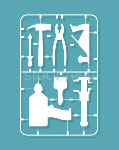 plastic model kits Construction tools. Set for men    Stock photo © popaukropa