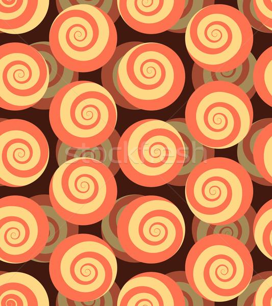 Spiralis 3D hipnótico círculo ornamento Foto stock © popaukropa