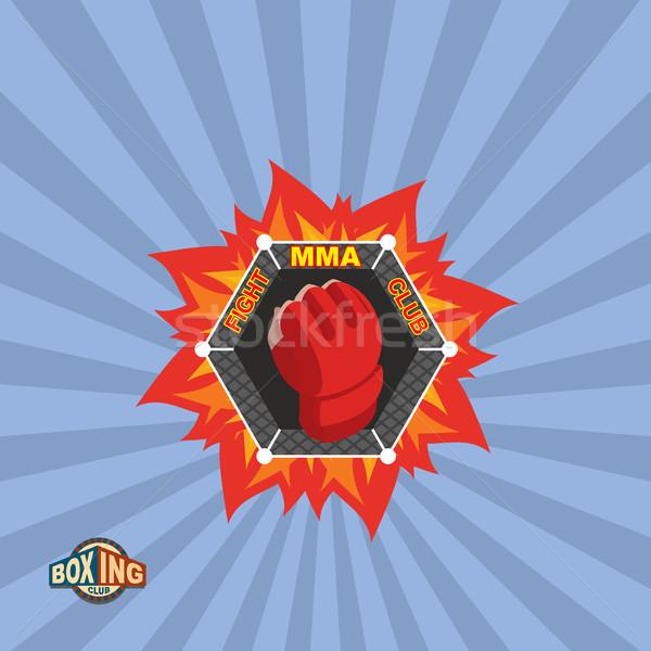 Vegyes küzdősportok logo embléma sportok csoport Stock fotó © popaukropa