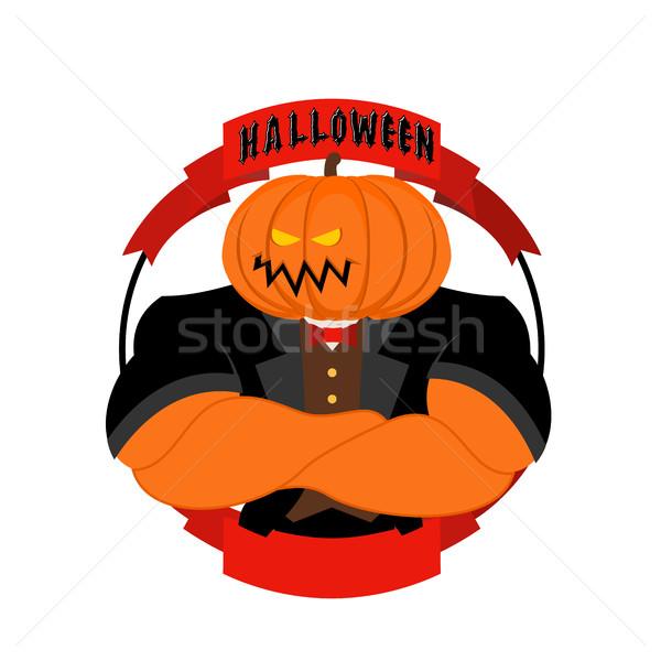Silne dynia halloween potężny warzyw straszny Zdjęcia stock © popaukropa