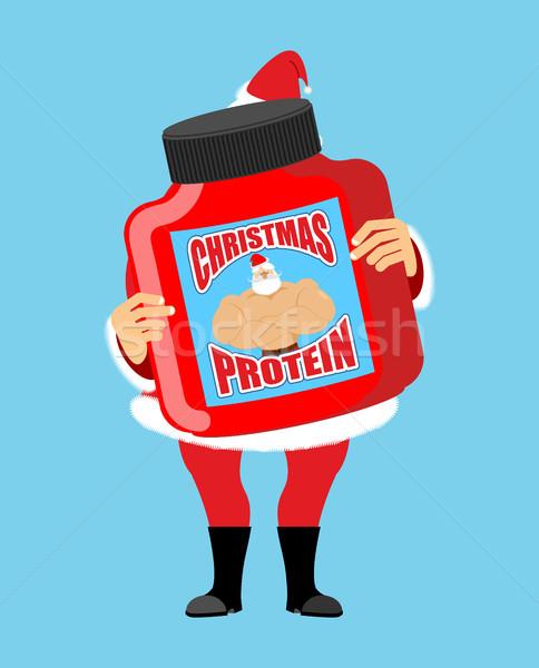 Сток-фото: Рождества · белок · спортивных · питание · подарок · праздник