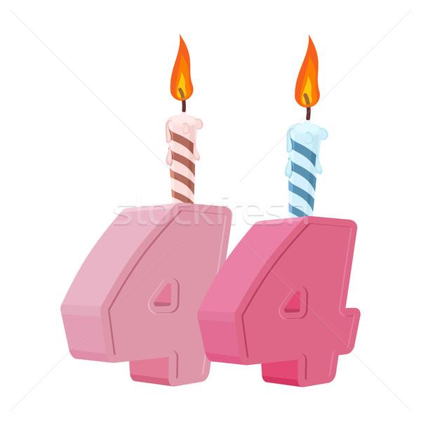 Anni compleanno numero candela vacanze Foto d'archivio © popaukropa