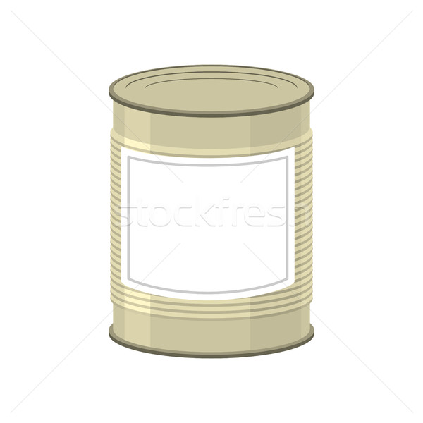 Cans isolated. Tin bank on white background Stock photo © popaukropa