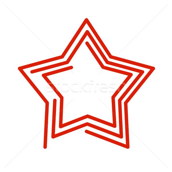 Csillag vonal stílus piros absztrakt felirat Stock fotó © popaukropa