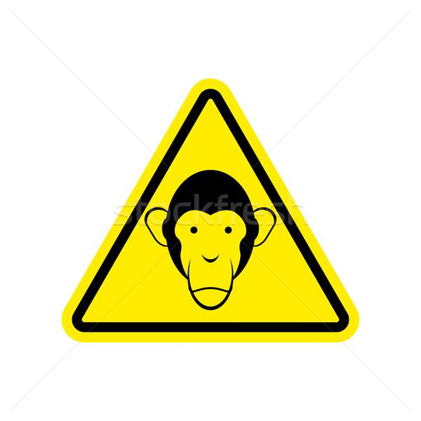 猿 黄色 ハザード 注目 シンボル ストックフォト © popaukropa