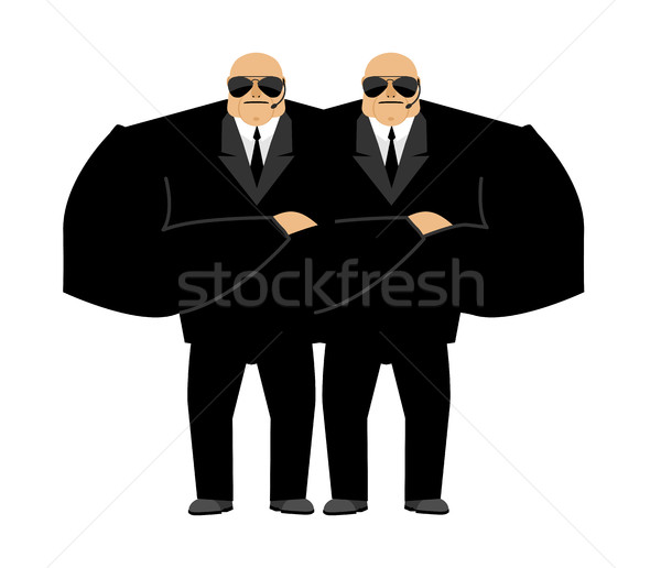 Bodyguard isolated. Security guard face control of nightclub. Bl Stock photo © popaukropa