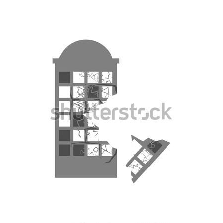 Destruído edifício terremoto quebrado casa guerra Foto stock © popaukropa