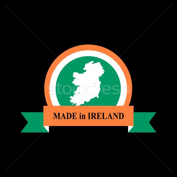 Emblema irlandês bandeira assinar fita logotipo Foto stock © popaukropa