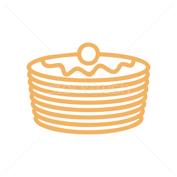 Pancakes line icon. Symbol for bakery. Production bread ingredie Stock photo © popaukropa