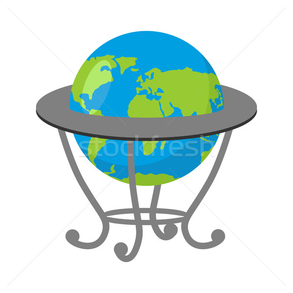 Globe on stand. Model of  Earth. School geographical Atlas Stock photo © popaukropa