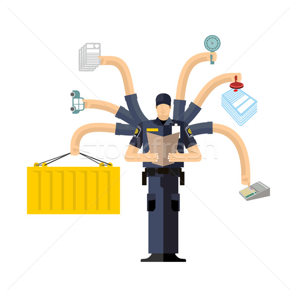 Canada Border Services Agency work. CBSA clerk. Customs officer  Stock photo © popaukropa