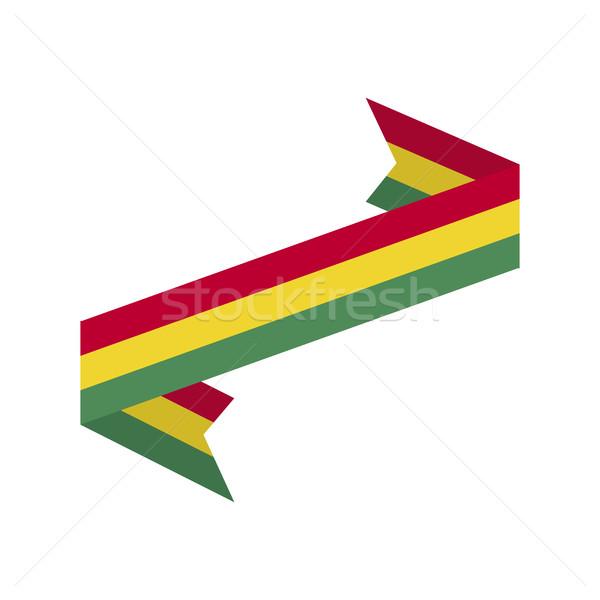 Stock fotó: Bolívia · zászló · szalag · izolált · szalag · szalag