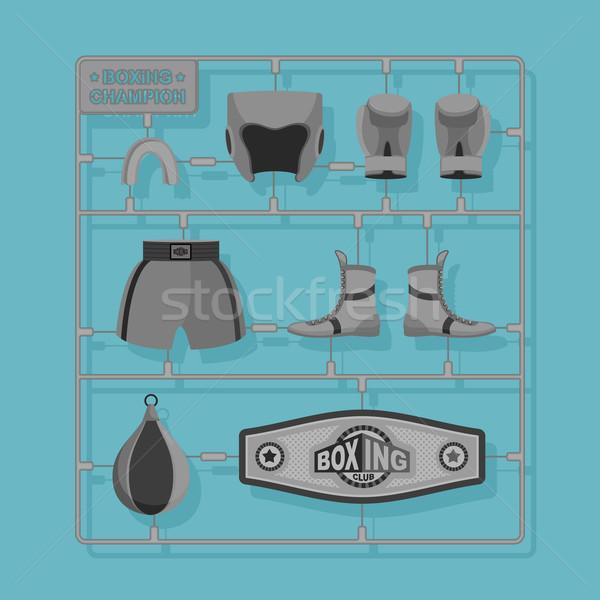 Boxing plastic modeling part  Stock photo © popaukropa