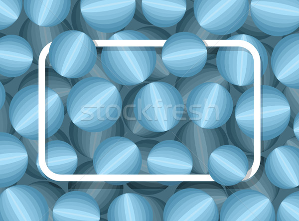Text frame on 3d background ball. Pattern of  community with pla Stock photo © popaukropa
