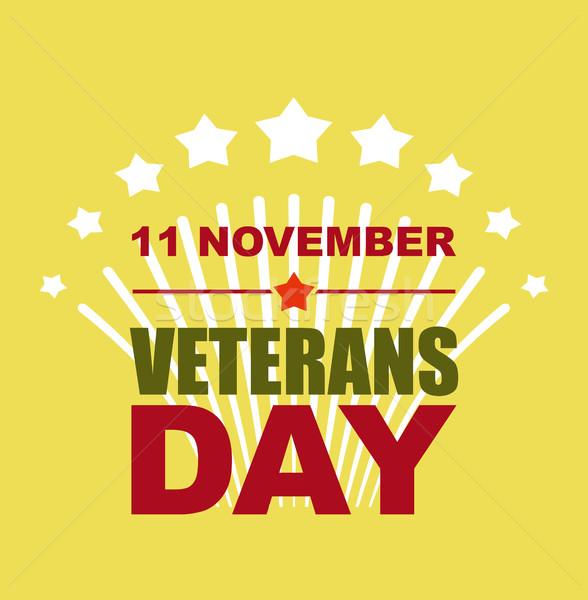Veterans Day November 11. Salute to American heroes. Vector illu Stock photo © popaukropa