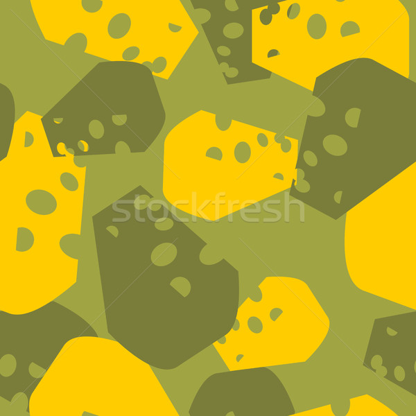 Military camouflage cheese. Cheesy army texture for clothing. Pr Stock photo © popaukropa