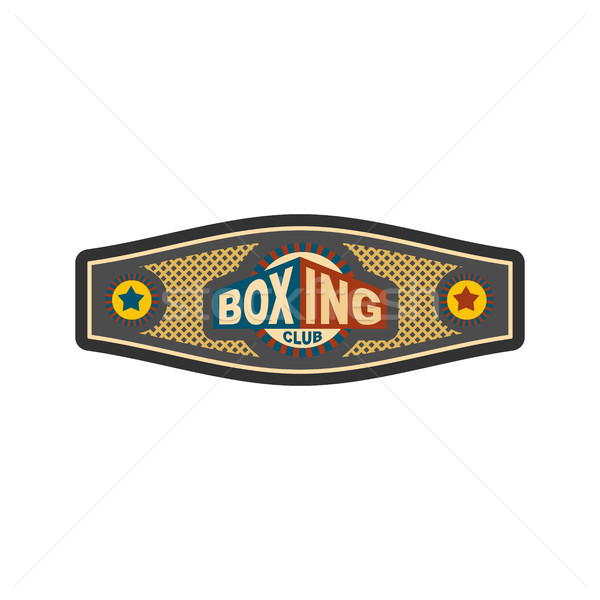 Boxing championship belt. Award for boxer. Sport victory Stock photo © popaukropa