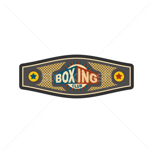 Box bajnokság öv díj boxoló sport Stock fotó © popaukropa