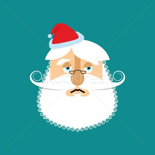 üzücü noel baba dede sakal bıyık Stok fotoğraf © popaukropa