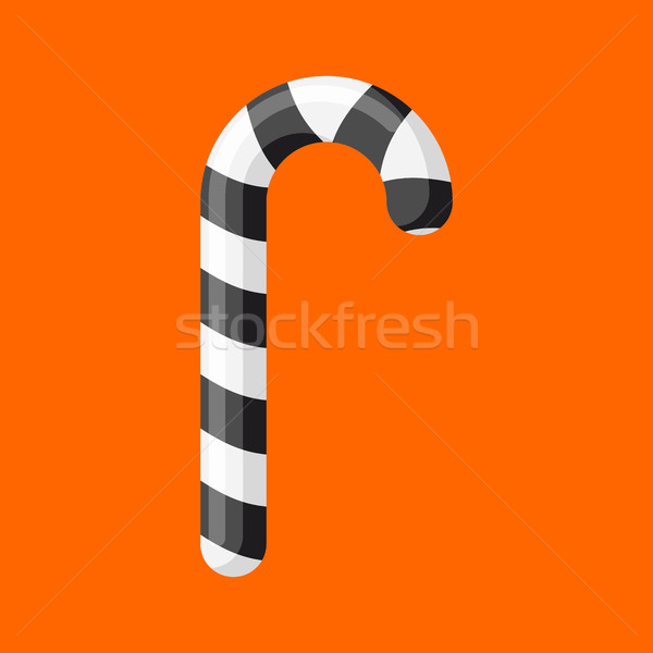 Karácsony menta cukorka fekete izolált nyalóka Stock fotó © popaukropa