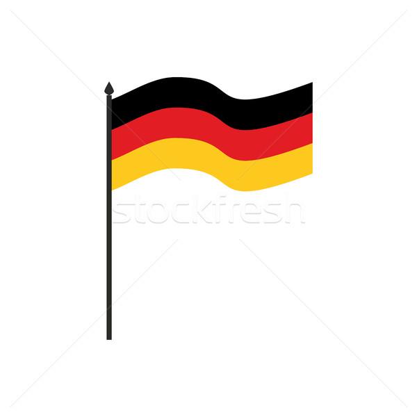 Almanya bayrak karikatür stil yalıtılmış beyaz Stok fotoğraf © popaukropa
