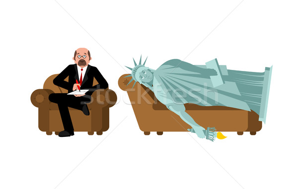 American depression. Statue of liberty at psychologist reception Stock photo © popaukropa
