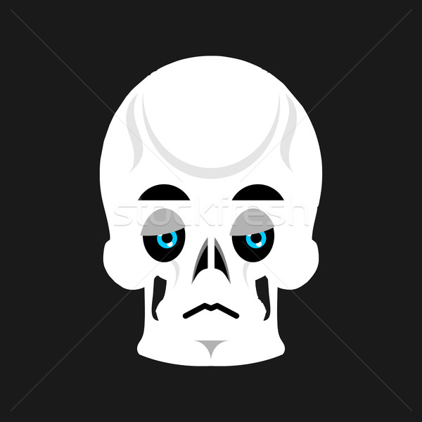 Skull Sad Emoji. skeleton head  sorrowful emotion isolated Stock photo © popaukropa