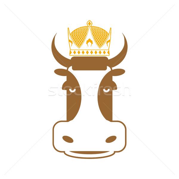 Foto stock: Real · carne · vaca · coroa · assinar · carne