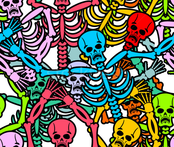 Nap halott végtelen minta tarka csontváz dísz Stock fotó © popaukropa
