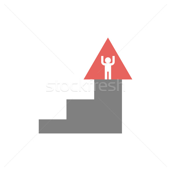 Career ladder logo. Steps sign. Climbing emblem. Stock photo © popaukropa