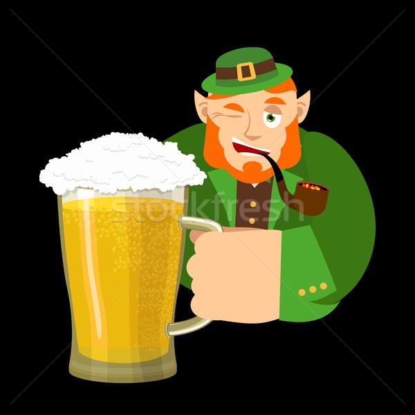 Feliz día taza cerveza enano Foto stock © popaukropa
