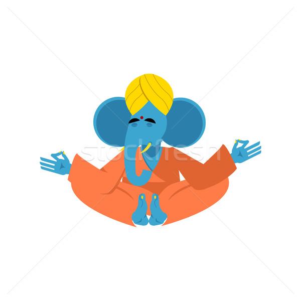 Elefante deus sabedoria animal ioga Foto stock © popaukropa