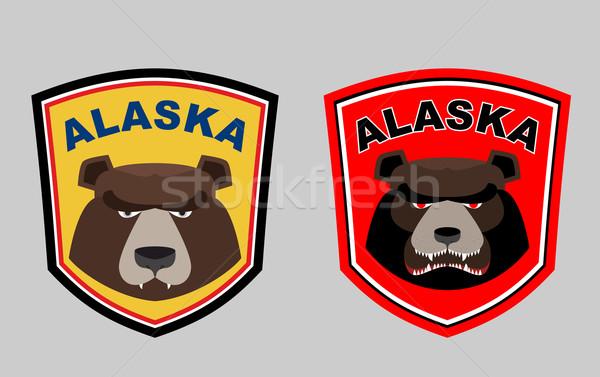 Alaska tener establecer logos caza equipo deportivo Foto stock © popaukropa