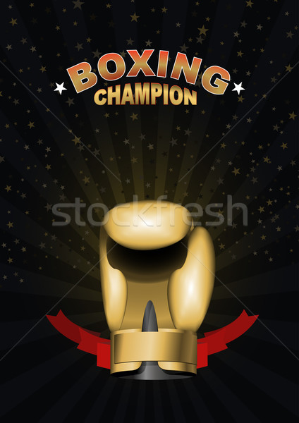 boxing gloves. Template for Championship Awards. boxing gold cup Stock photo © popaukropa
