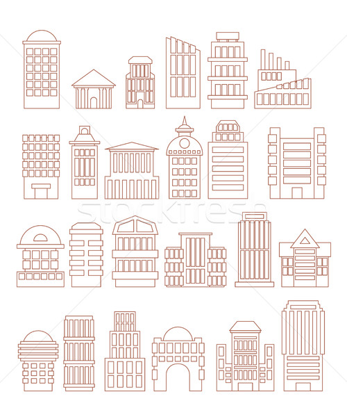 Set  buildings  icons. Public and administrative complexes. Larg Stock photo © popaukropa