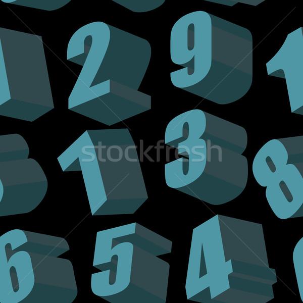 Dígitos preto vetor papel textura Foto stock © popaukropa