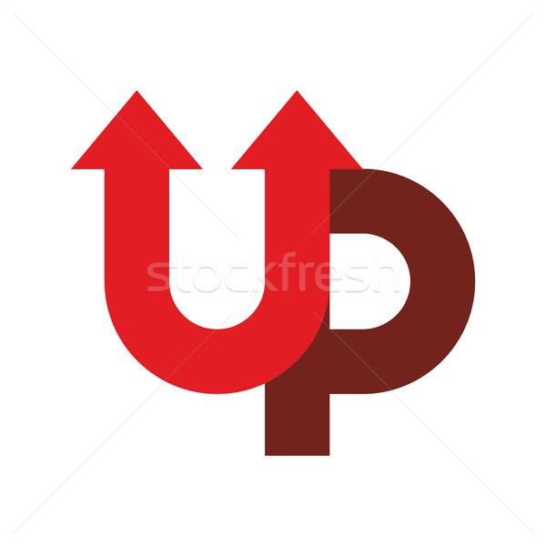 Kezdet felfelé logo nyíl embléma üzlet Stock fotó © popaukropa