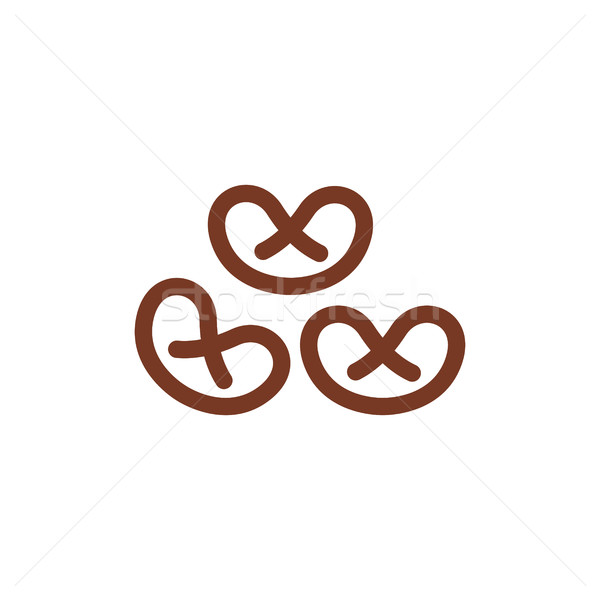 Pretzel line icon. wheat  Sign for production of bread and baker Stock photo © popaukropa